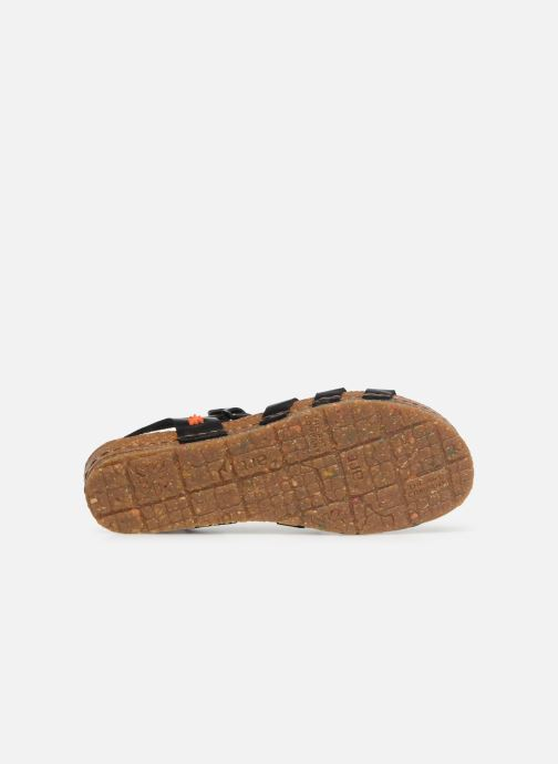 Sandales et nu-pieds Art Creta 1254 Noir vue haut
