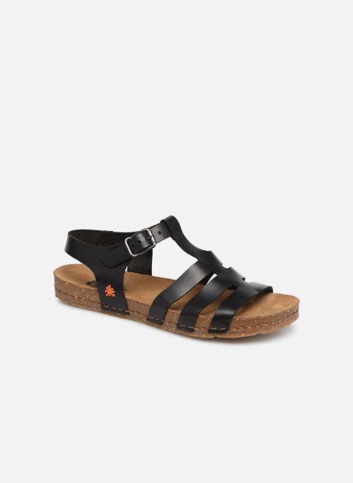 Sandales et nu-pieds Art Creta 1254 Noir vue détail/paire