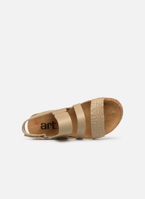 Sandales et nu-pieds Art Creta 1255 Beige vue gauche