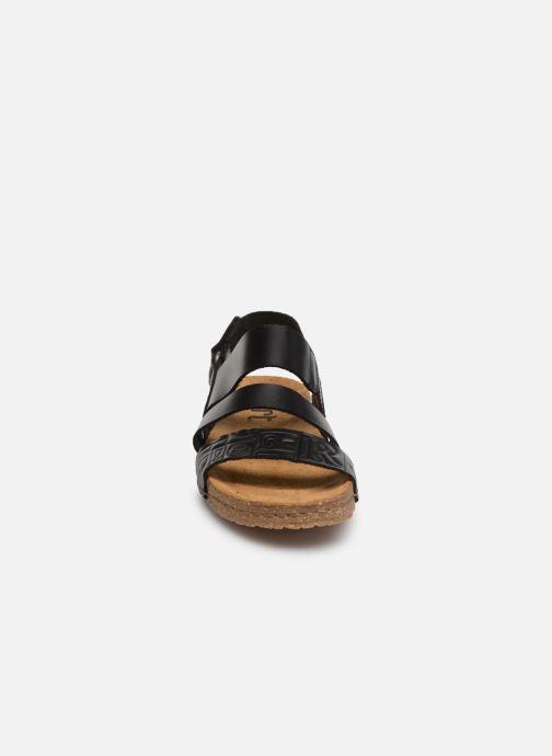Sandales et nu-pieds Art Creta 1255 Noir vue portées chaussures