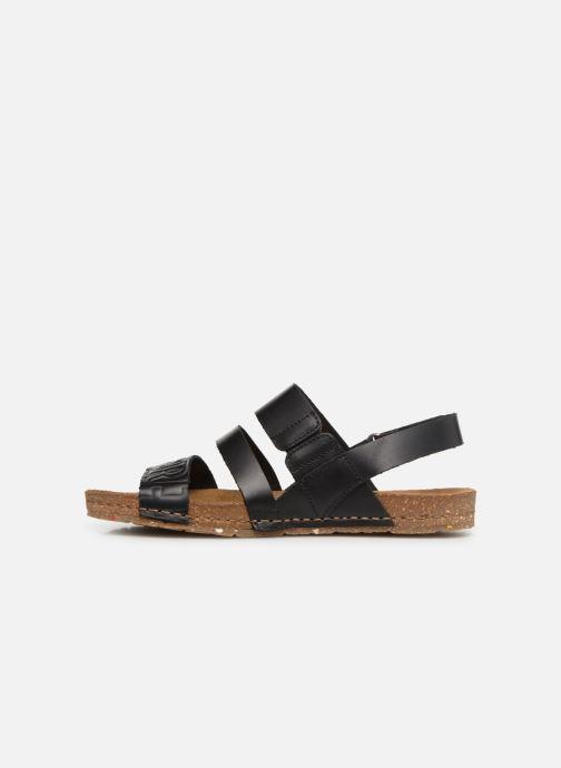 Sandales et nu-pieds Art Creta 1255 Noir vue face