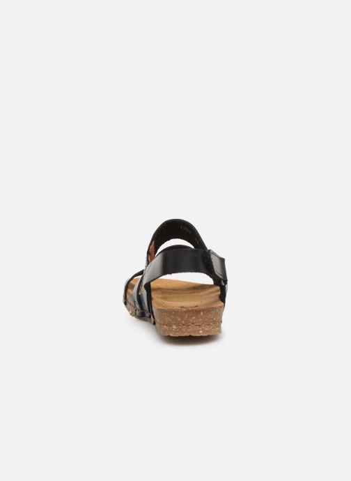 Sandales et nu-pieds Art Creta 1255 Noir vue droite