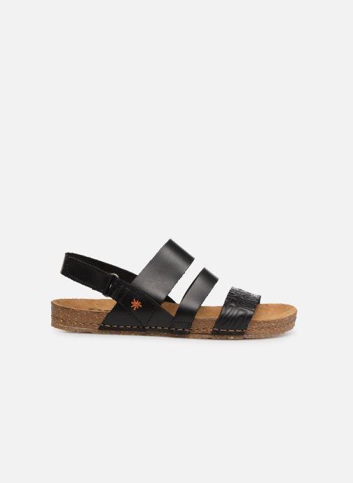 Sandales et nu-pieds Art Creta 1255 Noir vue derrière