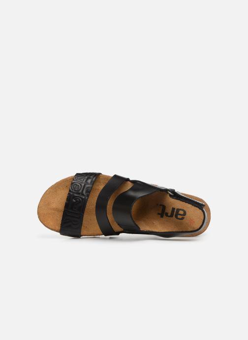 Sandales et nu-pieds Art Creta 1255 Noir vue gauche