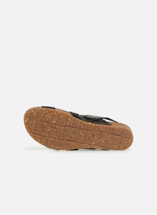 Sandales et nu-pieds Art Creta 1255 Noir vue haut