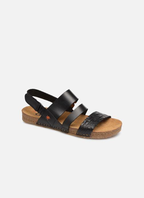 Sandales et nu-pieds Art Creta 1255 Noir vue détail/paire