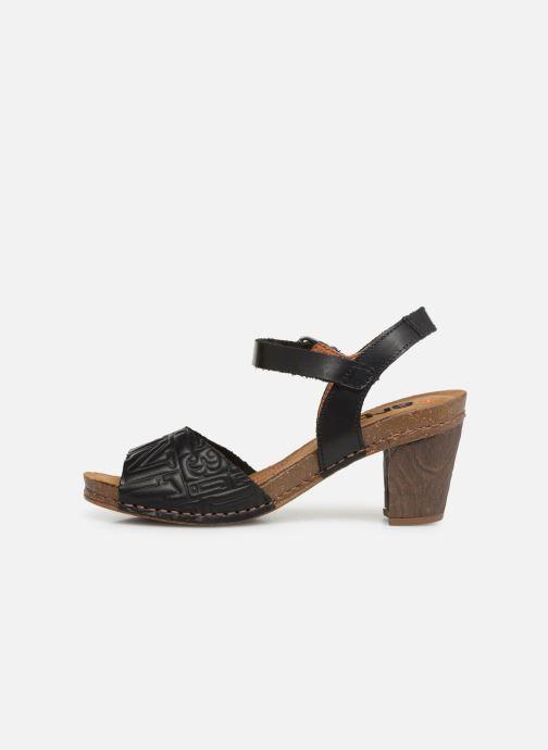 Sandalen Art I Meet 1273 schwarz ansicht von vorne