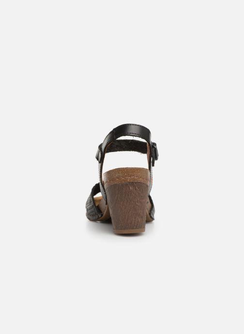 Sandales et nu-pieds Art I Meet 1273 Noir vue droite