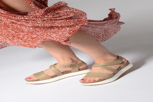 Sandalen Art Mykonos 587 weiß ansicht von unten / tasche getragen