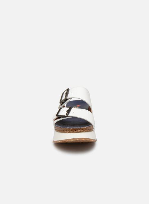 Mules et sabots Art Mykonos 1265 Blanc vue portées chaussures