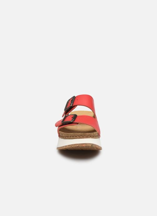 Mules et sabots Art Mykonos 1265 Rouge vue portées chaussures