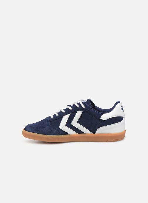 Sneakers Hummel VICTORY SUEDE JR Azzurro immagine frontale