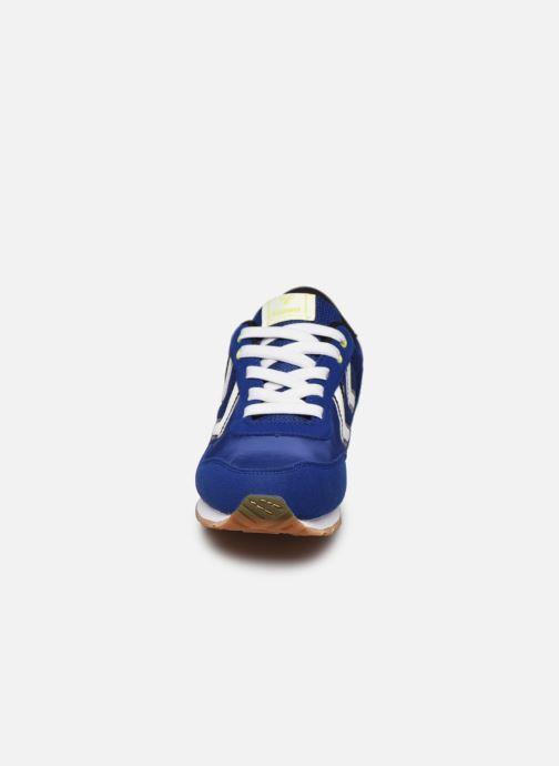 Baskets Hummel REFLEX JR Bleu vue portées chaussures