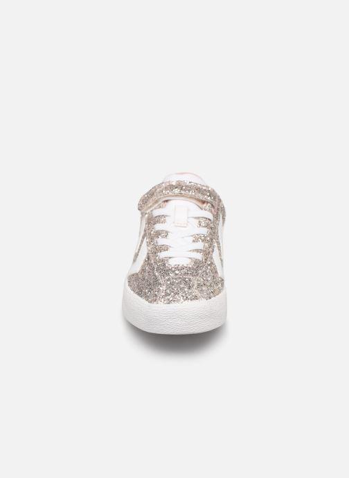 Baskets Hummel DIAMANT GLITTER JR Argent vue portées chaussures