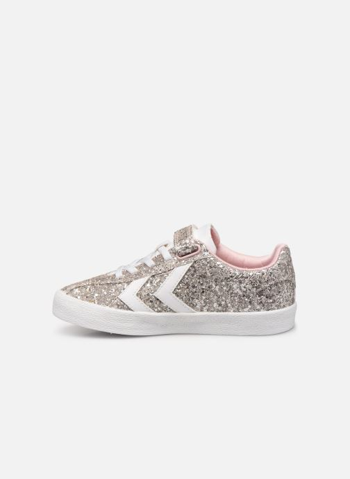 Baskets Hummel DIAMANT GLITTER JR Argent vue face