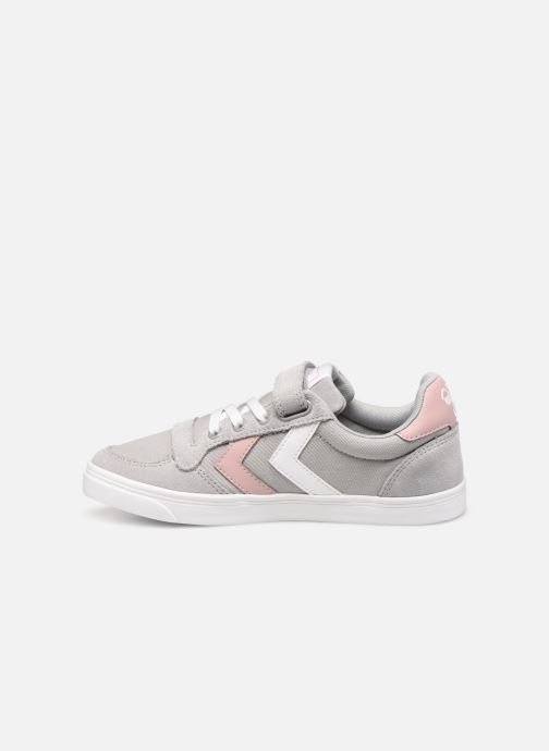 Trainers Hummel SLIMMER STADIL LOW JR Grey front view