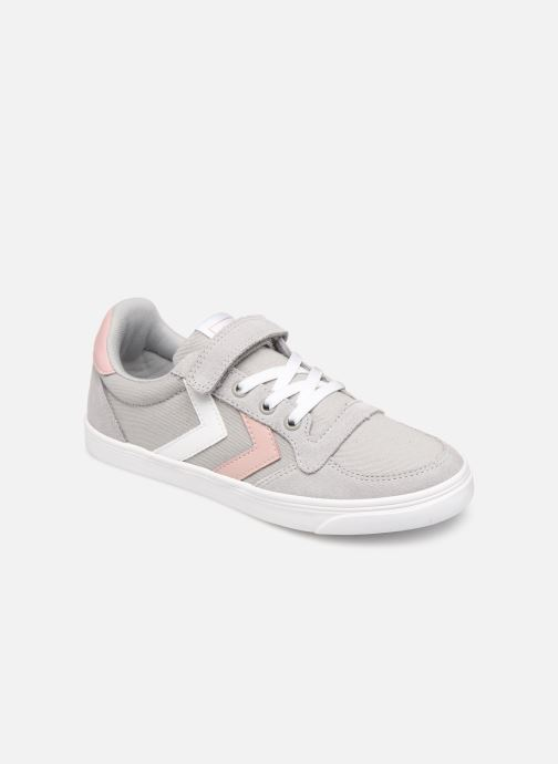 Trainers Hummel SLIMMER STADIL LOW JR Grey detailed view/ Pair view