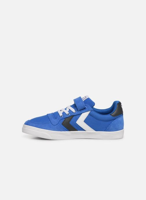Baskets Hummel SLIMMER STADIL LOW JR Bleu vue face