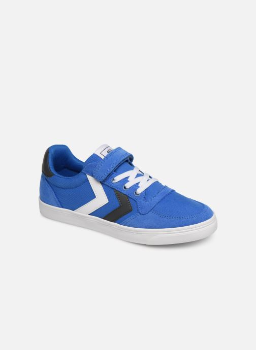 Baskets Hummel SLIMMER STADIL LOW JR Bleu vue détail/paire