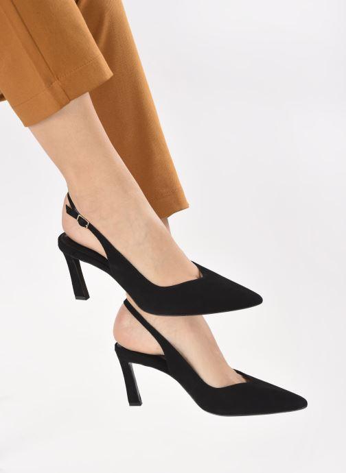 High heels Dune London CHORUS Black view from underneath / model view