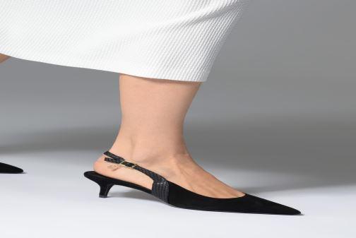 High heels Dune London CINDA Black view from underneath / model view