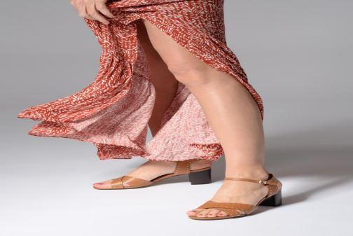 Sandales et nu-pieds Dune London JOYRIDE Marron vue bas / vue portée sac