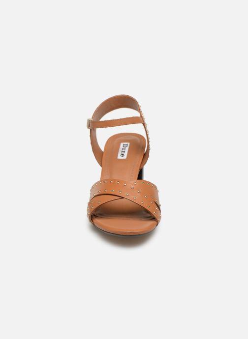 Sandales et nu-pieds Dune London JOYRIDE Marron vue portées chaussures