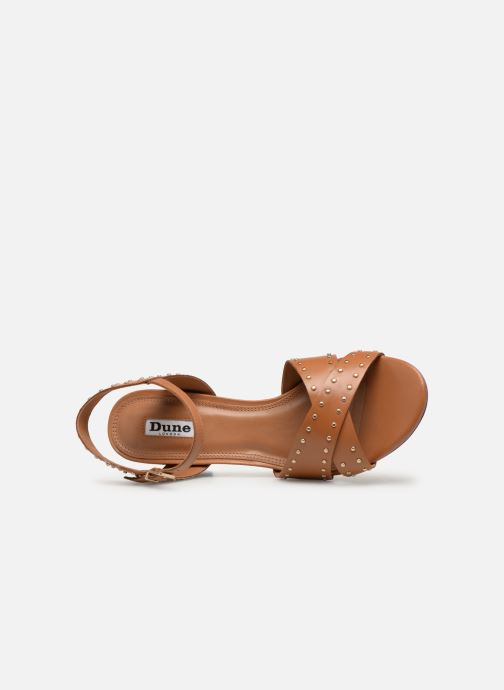 Sandals Dune London JOYRIDE Brown view from the left