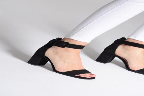 Sandales et nu-pieds Dune London MIRROR Noir vue bas / vue portée sac