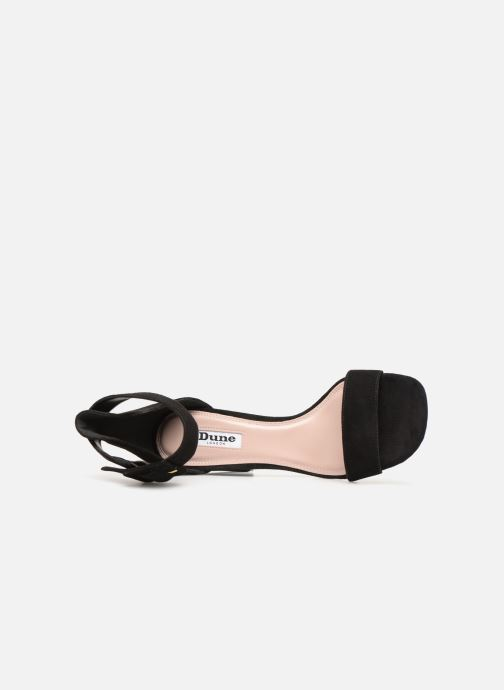 Sandales et nu-pieds Dune London MIRROR Noir vue gauche