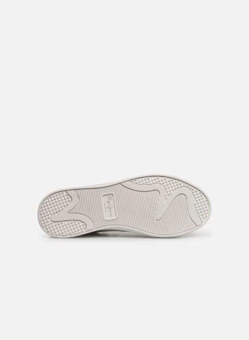 Baskets Pepe jeans Brompton Basic Boy Blanc vue haut