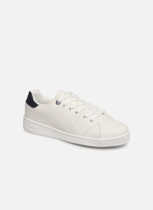 Baskets Pepe jeans Brompton Basic Boy Blanc vue détail/paire