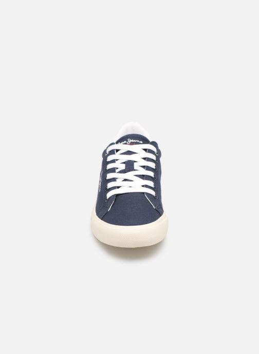 Baskets Pepe jeans Tennis Canvas Bleu vue portées chaussures