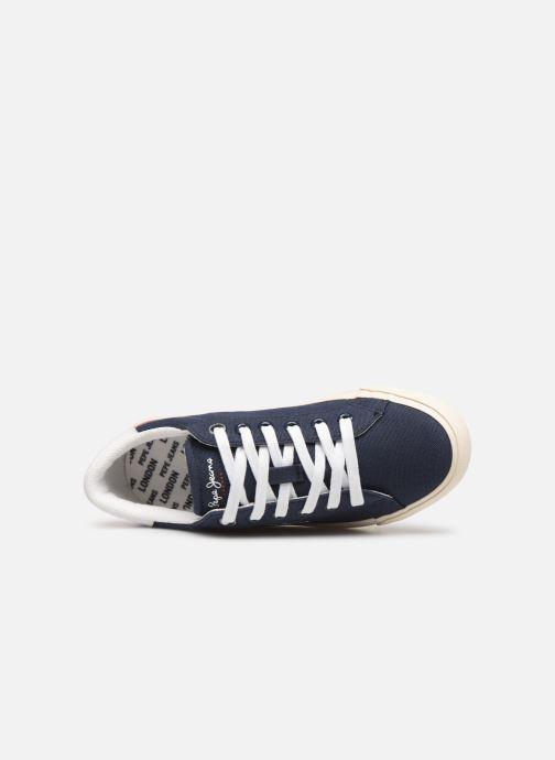 Baskets Pepe jeans Tennis Canvas Bleu vue gauche