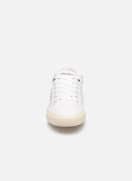 Sneaker Pepe jeans Tennis Canvas weiß schuhe getragen