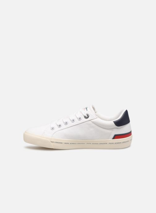 Sneakers Pepe jeans Tennis Canvas Bianco immagine frontale
