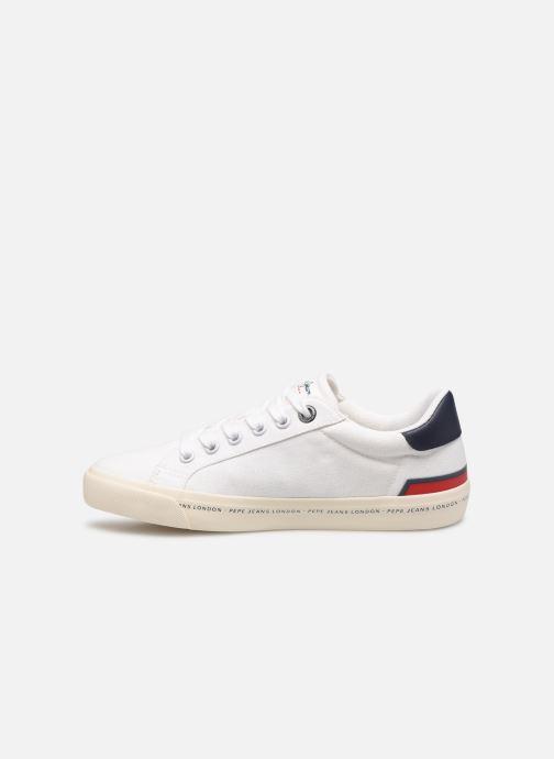 Sneaker Pepe jeans Tennis Canvas weiß ansicht von vorne