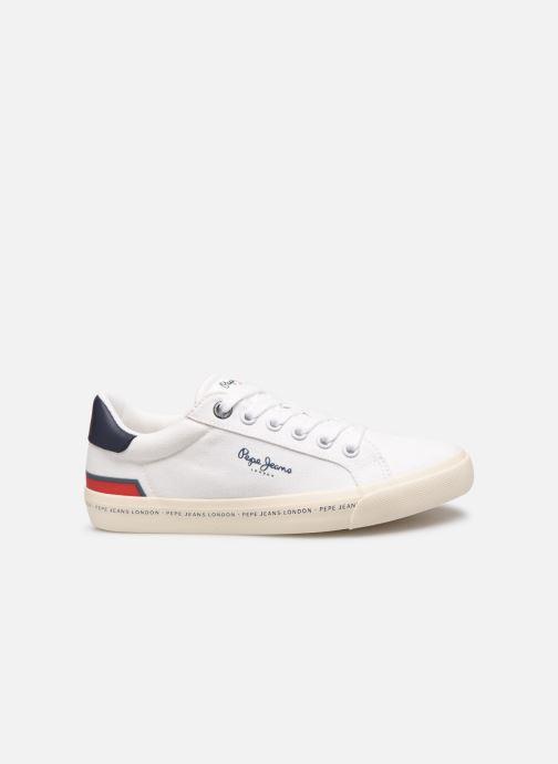 Sneaker Pepe jeans Tennis Canvas weiß ansicht von hinten