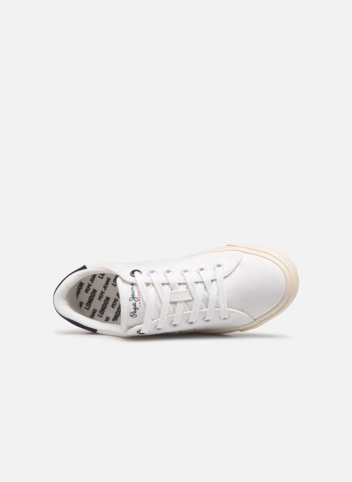 Baskets Pepe jeans Tennis Canvas Blanc vue gauche