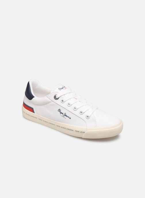 Baskets Pepe jeans Tennis Canvas Blanc vue détail/paire