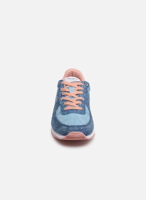 Sneaker Pepe jeans Sydney Topos blau schuhe getragen