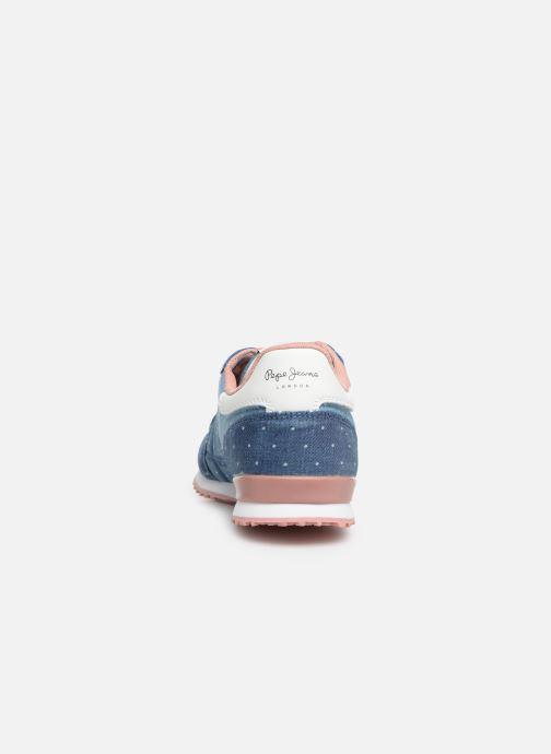 Sneaker Pepe jeans Sydney Topos blau ansicht von rechts