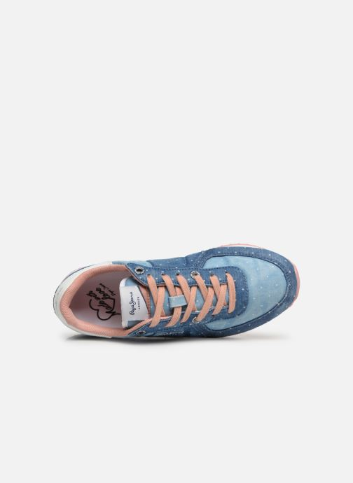 Deportivas Pepe jeans Sydney Topos Azul vista lateral izquierda