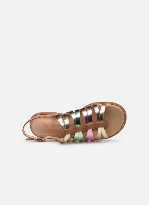 Sandals Pepe jeans Elsa Tiras Metal Multicolor view from the left