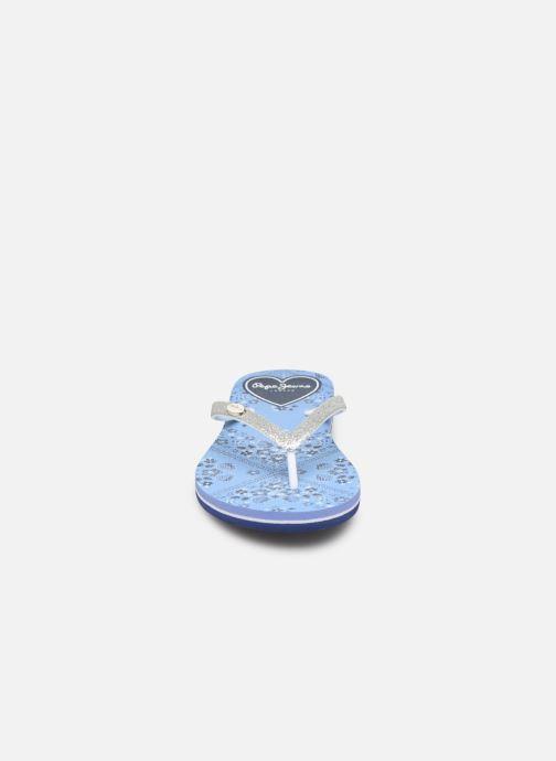 Tongs Pepe jeans Beach Bandana Bleu vue portées chaussures