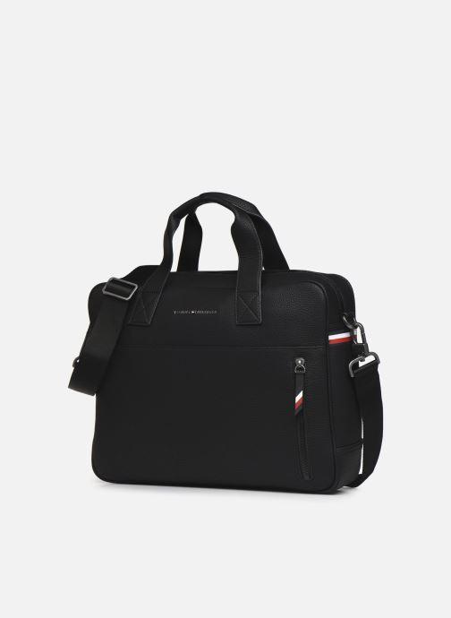 Laptoptaschen Tommy Hilfiger ESSENTIAL COMPUTER BAG schwarz schuhe getragen