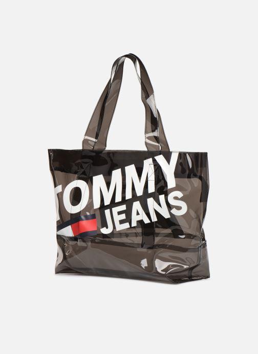 Sacs à main Tommy Hilfiger TJU SUMMER TOTE TRAN Noir vue portées chaussures