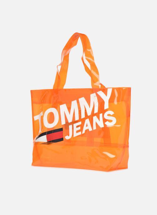 Sacs à main Tommy Hilfiger TJU SUMMER TOTE TRAN Orange vue portées chaussures
