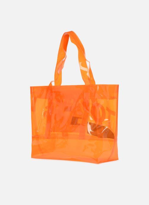 Handtassen Tommy Hilfiger TJU SUMMER TOTE TRAN Oranje rechts