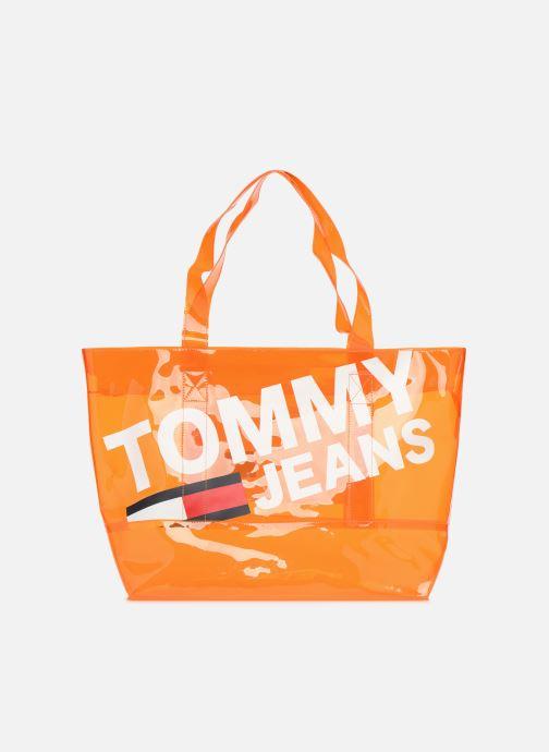 Handtassen Tommy Hilfiger TJU SUMMER TOTE TRAN Oranje detail